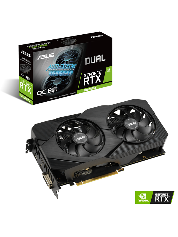 Image of   ASUS GeForce RTX 2060 SUPER DUAL EVO OC V2 - 8GB GDDR6 RAM - Grafikkort