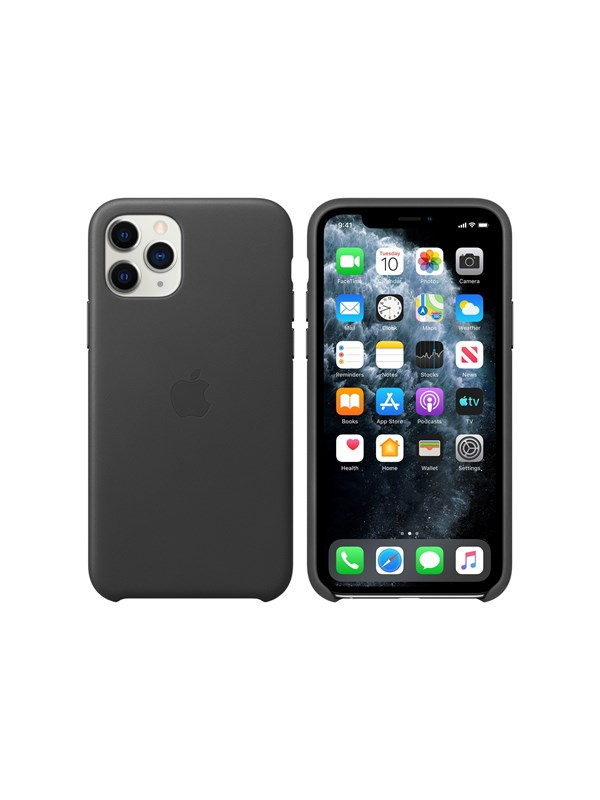 Image of   Apple iPhone 11 Pro Leather Case - Black