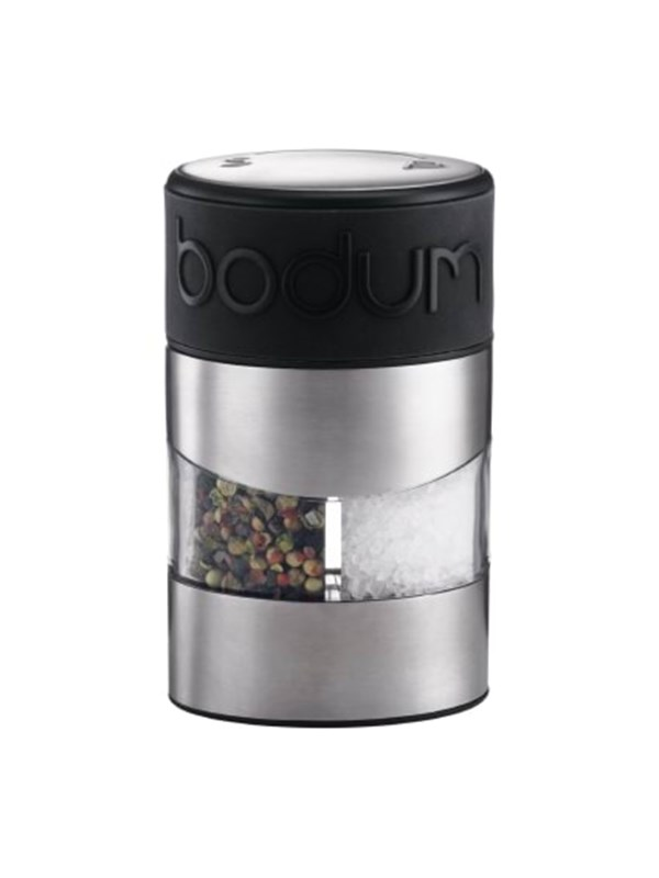 Image of   BODUM TWIN Salt and pepper grinder - black