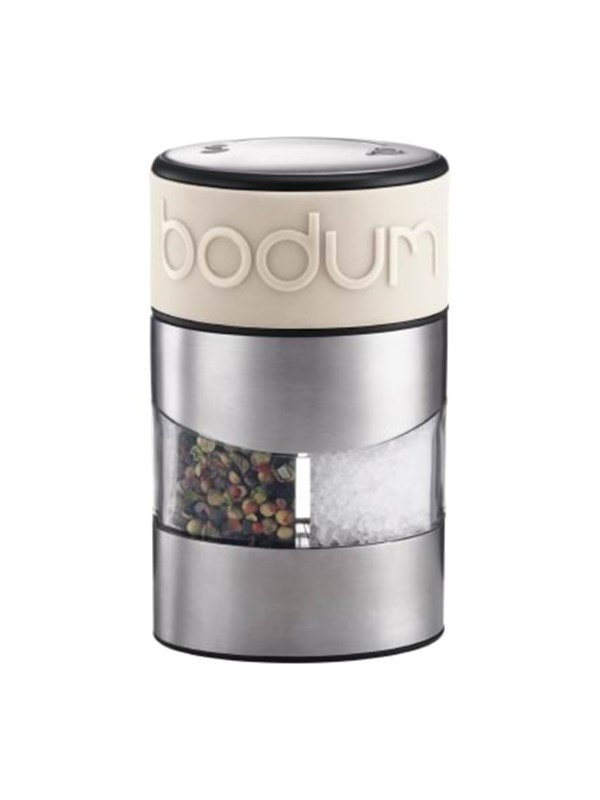 Image of   BODUM TWIN Salt and pepper grinder - white