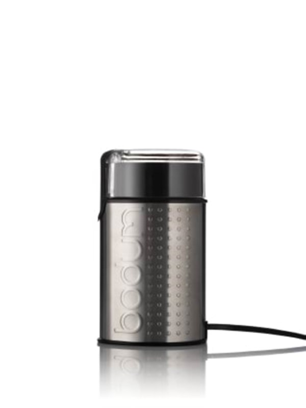 Image of   BODUM BISTRO electric coffee grinder - mat chrome