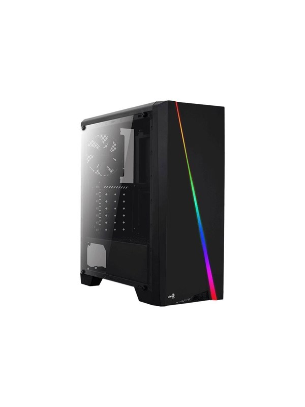 Image of   AeroCool Cylon TG RGB - Black - Kabinet - Miditower - Sort