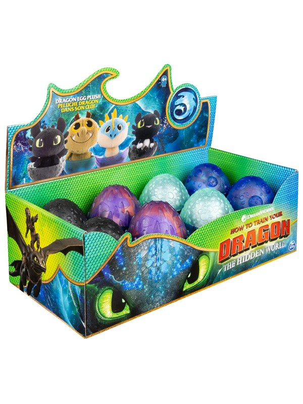 Image of   Dragons Plush Dragon Eggs asst