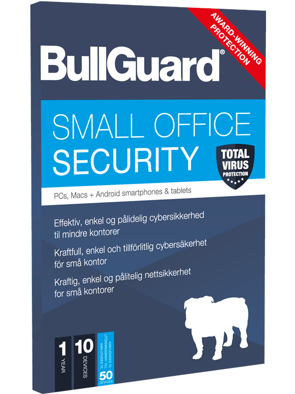 Image of   BullGuard Small Office Security 1Y (50 Devices) - Nordisk Elektronisk