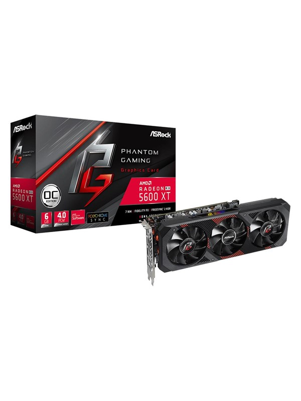 Image of   ASRock Radeon RX 5600 XT Phantom Gaming D3 - 6GB GDDR6 RAM - Grafikkort