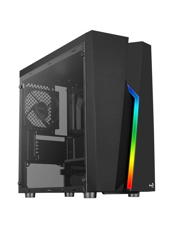 Image of   AeroCool Bolt Mini TG RGB - Kabinet - Minitower - Sort