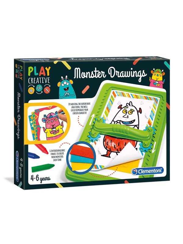 Image of   Clementoni Magic Drawing Board - Monsters