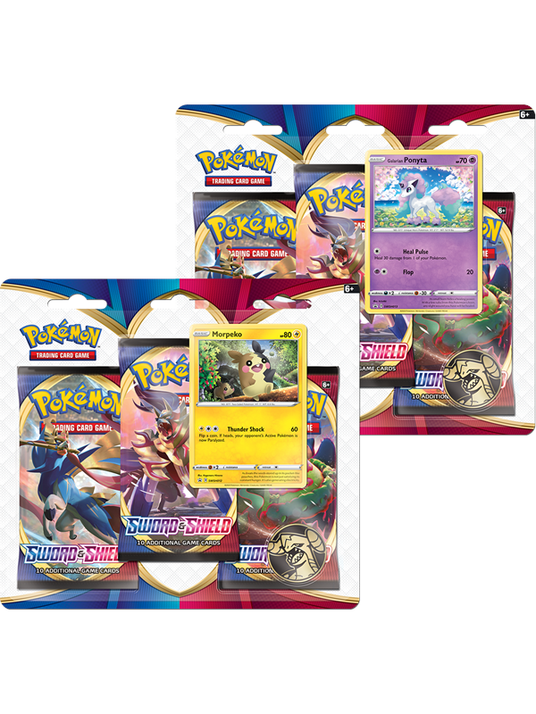 Image of   Pokemon 3-pack booster - Sword and Shield
