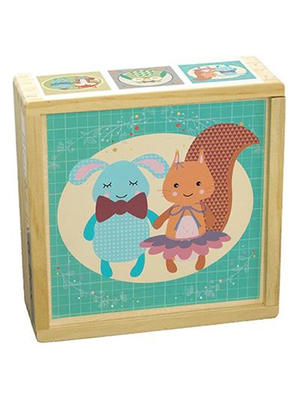 Image of   Barbo Toys Forest Friends Blocks in a box Blok