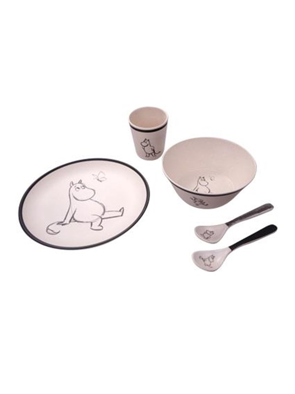 Image of   Barbo Toys Moomin Bamboo Melamine 5 pcs package (plate bowl. - Care & Meals