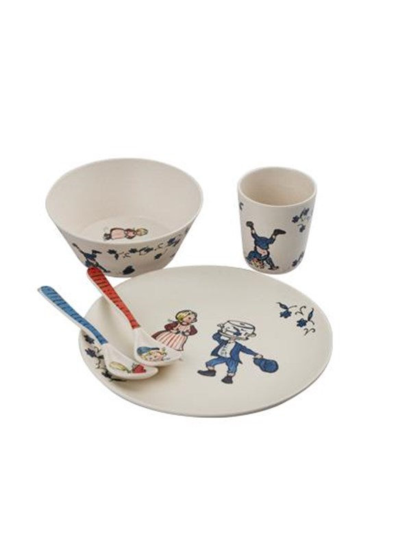 Image of   Barbo Toys Emil Bamboo Melamine 5 pcs package (plate bowl t - Care & Meals