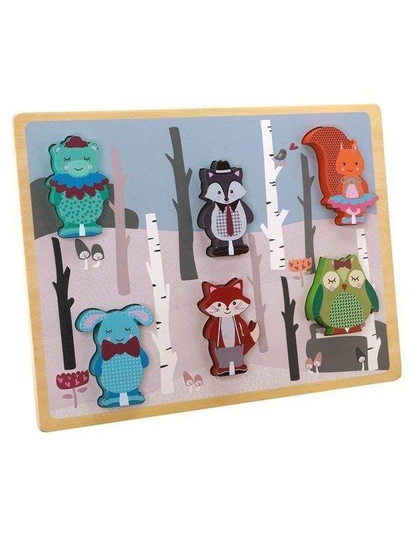 Image of   Barbo Toys Forest Friends Chunky puzzle