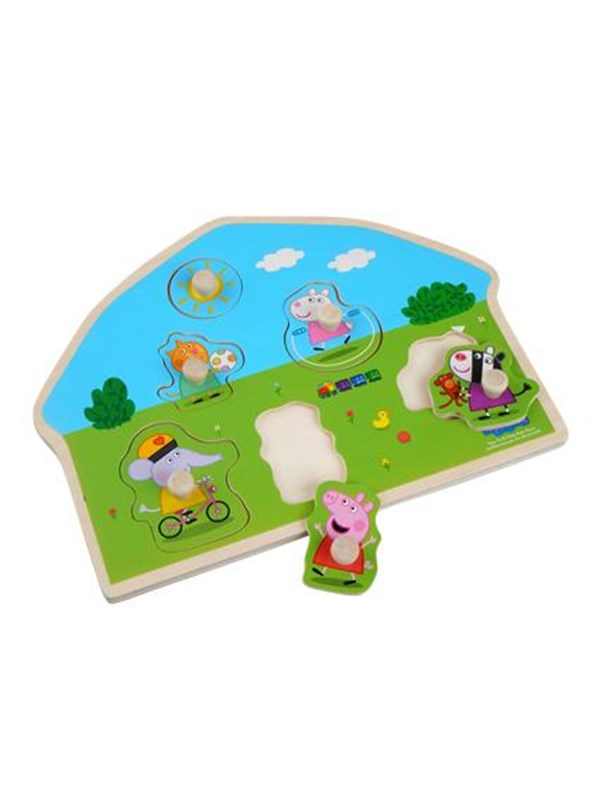 Image of   Barbo Toys Peppa Pig Shaped Wooden Puzzle - Playground
