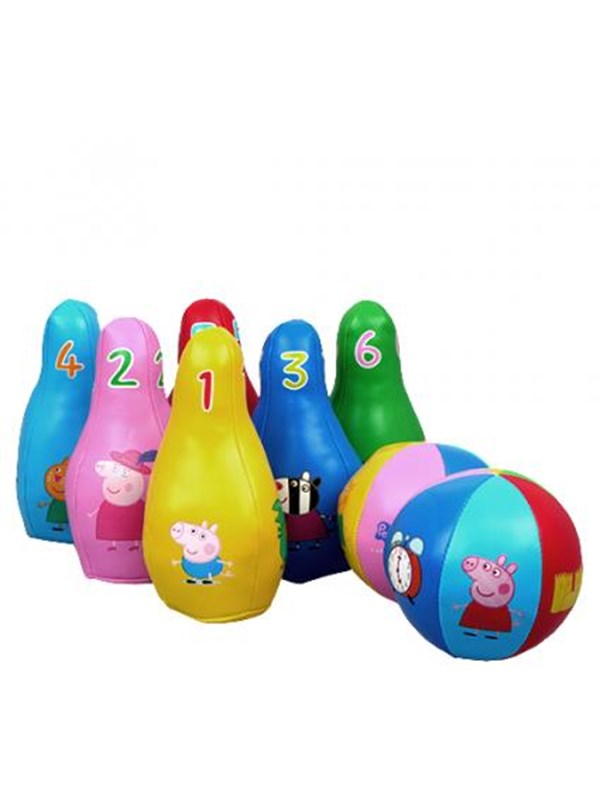 Image of   Barbo Toys Peppa Pig Soft Bowling Set