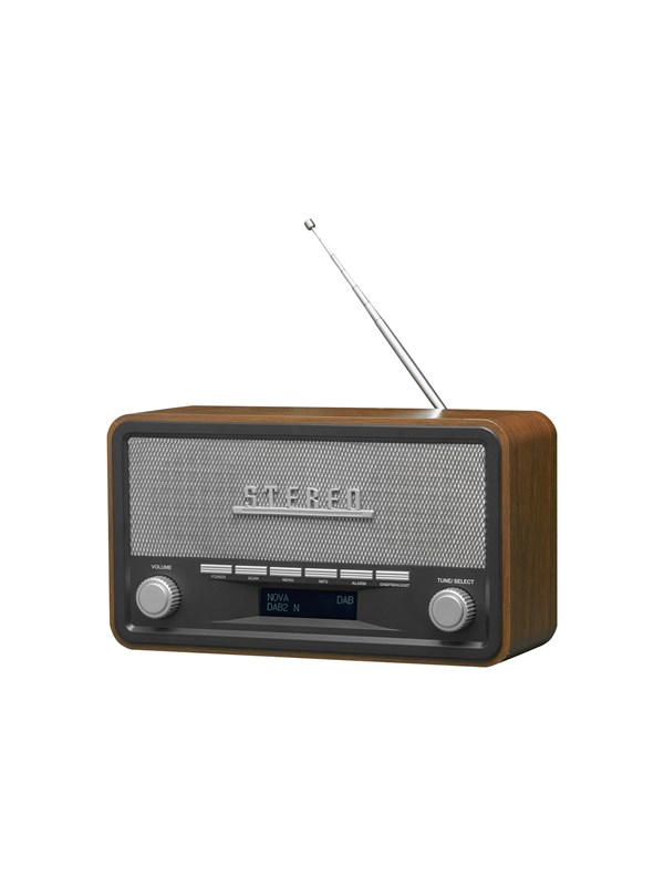 Image of   DENVER Bærbar radio DAB-18 - clock radio - Bluetooth - Stereo - Sølv