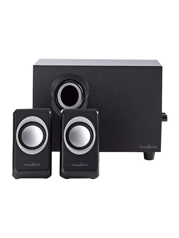Image of   Nedis - speaker system - for PC - 2.1 Kanal - Sort