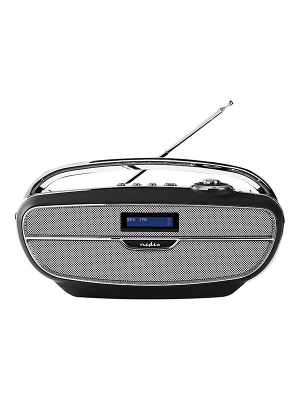 Image of   Nedis Bærbar radio RDDB5300BK - DAB portable radio - USB-host flash memory card - Sølv