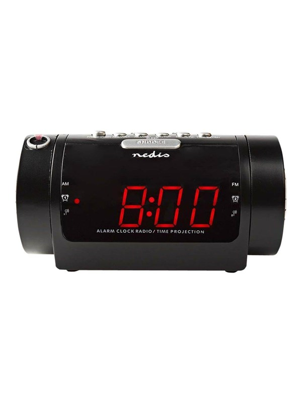 Image of   Nedis Bærbar radio CLAR005BK - clock radio - AM/FM - Sort