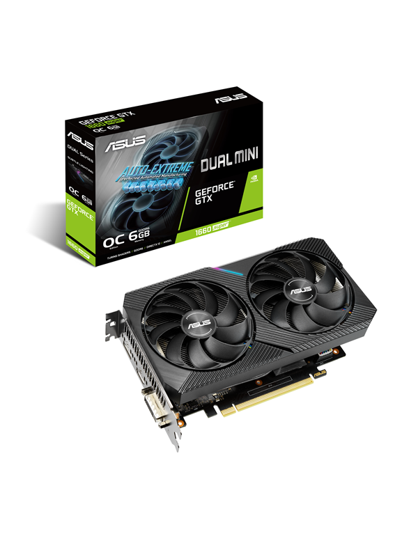 Image of   ASUS GeForce GTX 1660 SUPER DUAL MINI - 6GB GDDR6 RAM - Grafikkort