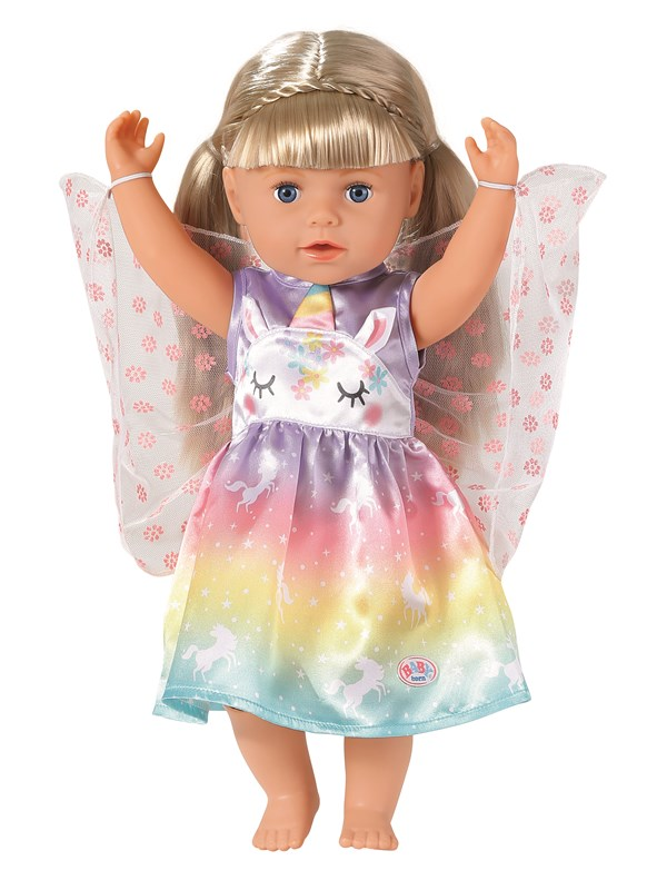 Image of   Baby Born Unicorn Fairy Outfit 43m