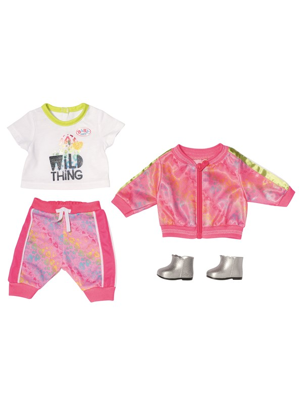 Image of   Baby Born Deluxe Trendy Pink Set 43cm
