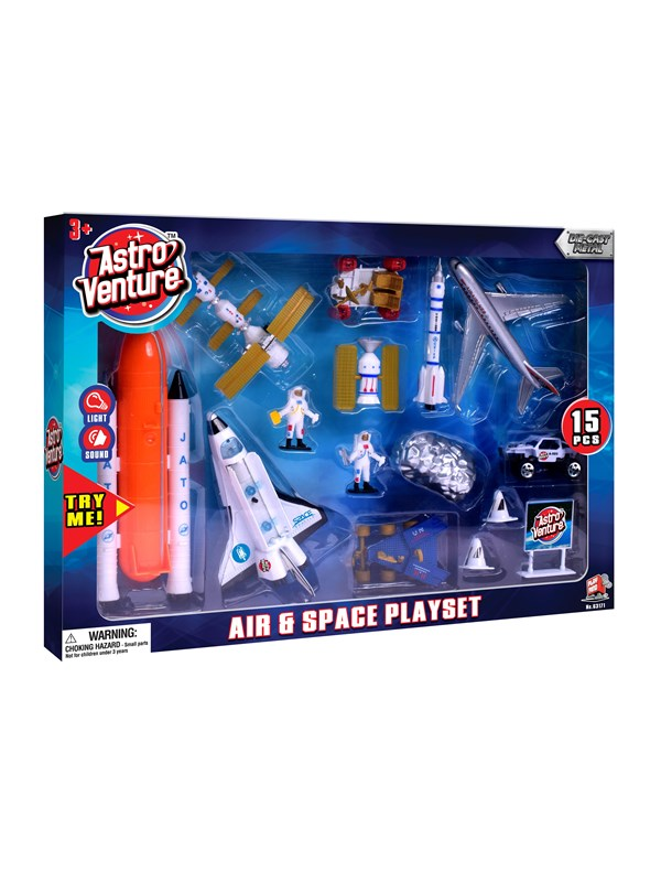 Image of   Astro Venture Diecast Air & Space Playset