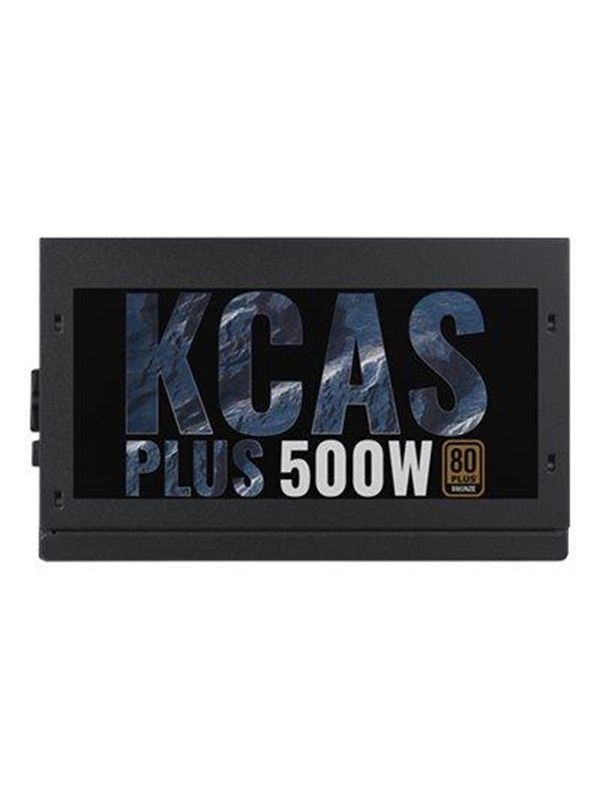 Image of   AeroCool KCAS PLUS 500W Strømforsyning - 500 Watt - 120 mm - 80 Plus Bronze certified