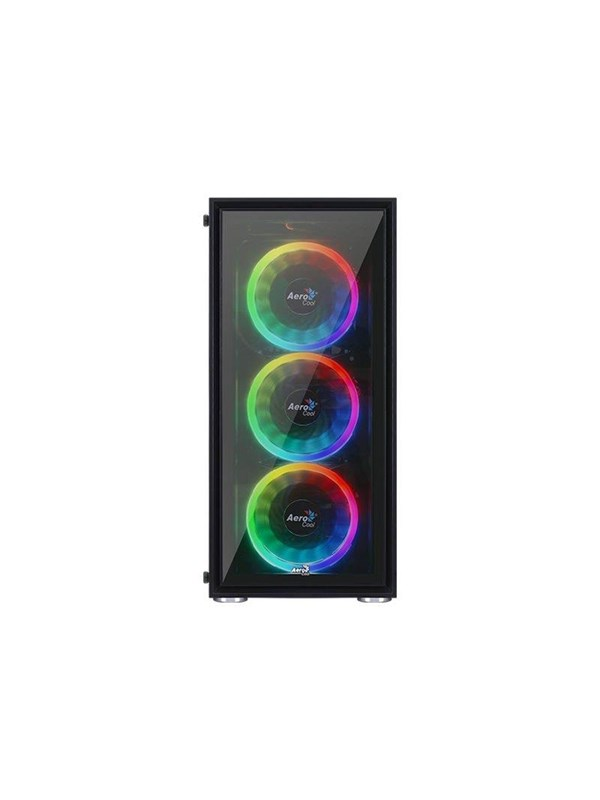 Image of   AeroCool Quartz REVO - Kabinet - Miditower - Sort