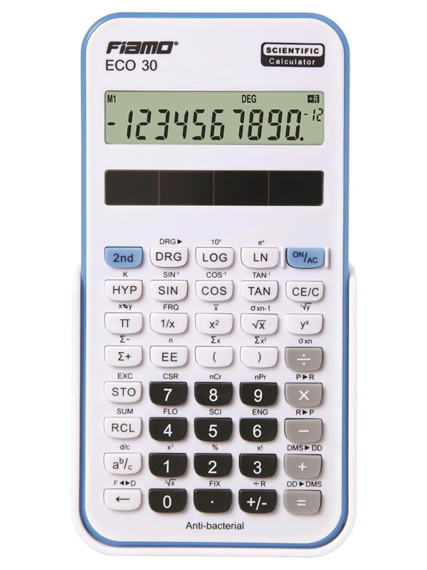 Image of   Fiamo Eco 30 Anti-bacterial Calculator Blue