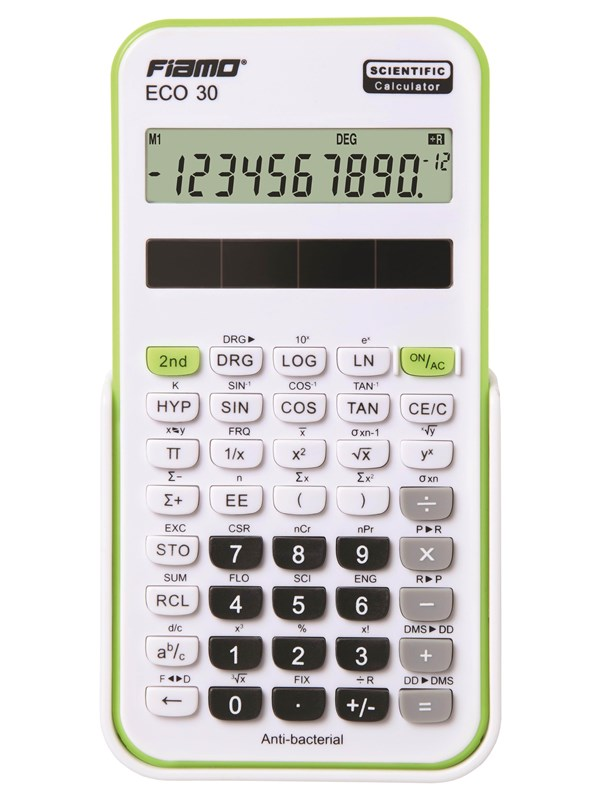 Image of   Fiamo Eco 30 Anti-bacterial Calculator Green