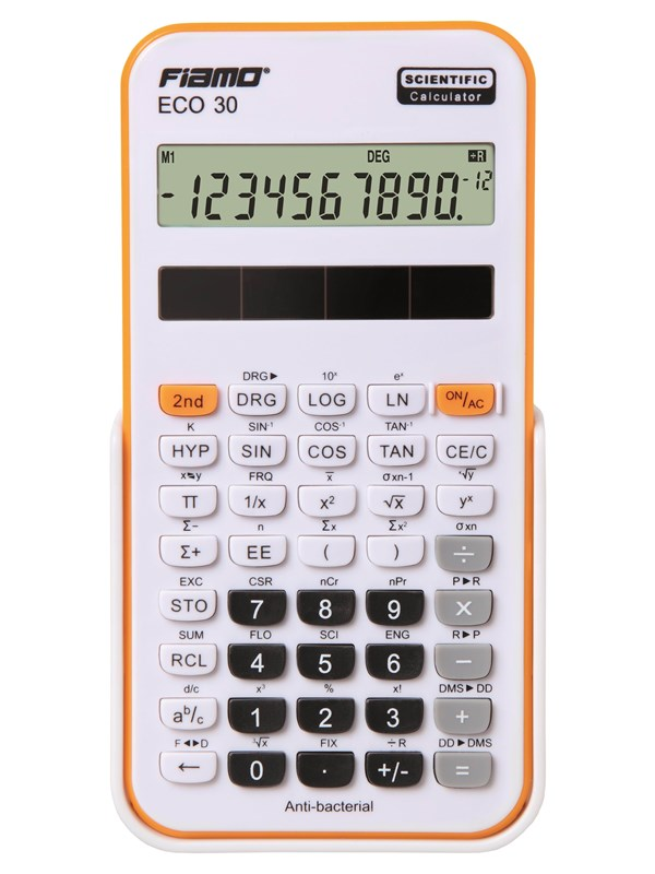 Image of   Fiamo Eco 30 Anti-bacterial Calculator Orange