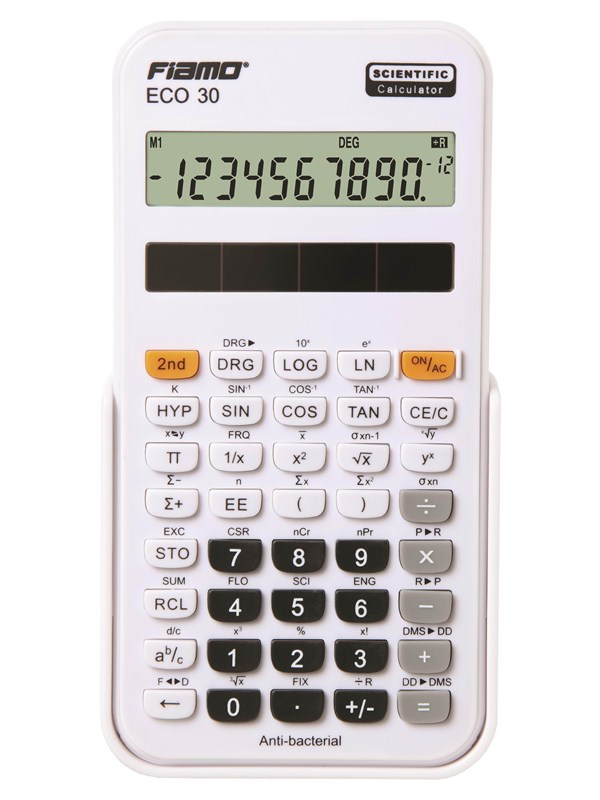 Image of   Fiamo Eco 30 Anti-bacterial Calculator White