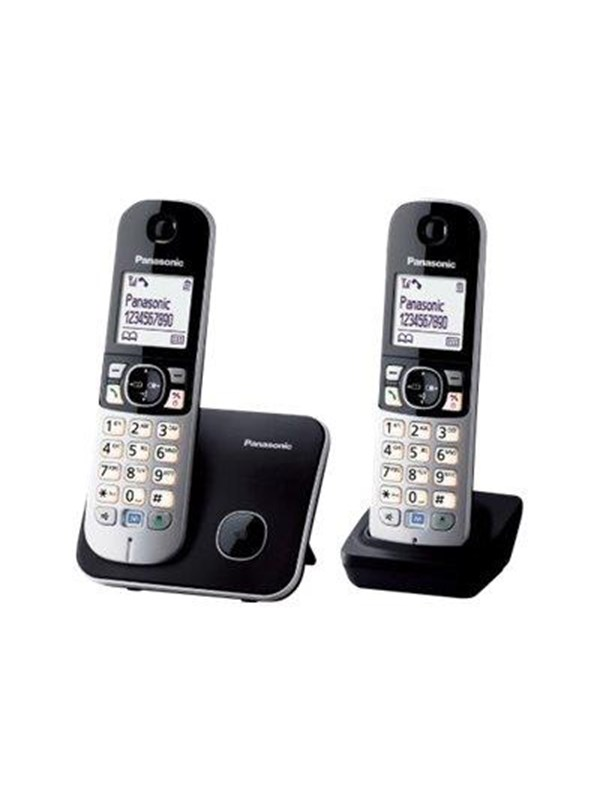 Image of   Panasonic KX-TG6812 - cordless phone with caller ID + additional handset