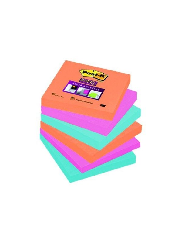 Image of   3M Post-it Super Sticky 654-6SS-EG
