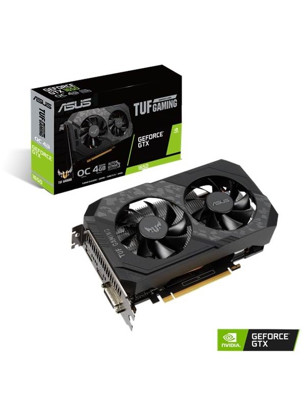 Image of   ASUS GeForce GTX 1650 TUF OC - 4GB GDDR5 RAM - Grafikkort