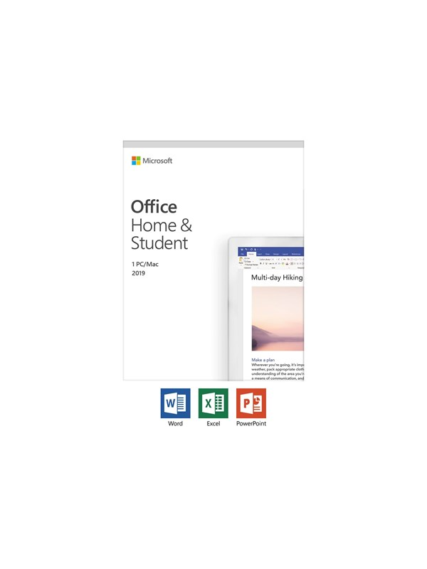 Image of   Microsoft Office Home and Student 2019 - Polsk