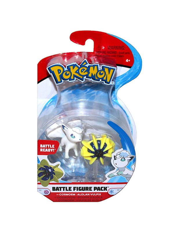 Image of   Pokemon Battle Figure Cosoem & Alolan 2in Mini Fig -