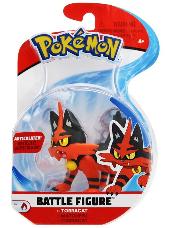 Image of   Pokemon Battle Figure Torracat 3in Action Figure -
