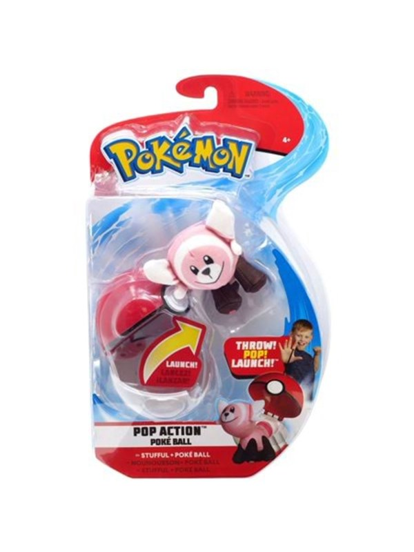 Image of   Pokemon Pop Action Poke Ball Stufful + Throw Pokeball plush -
