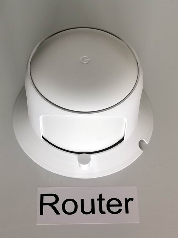 DDD Print Ceiling Mount for Google Nest WiFi Router