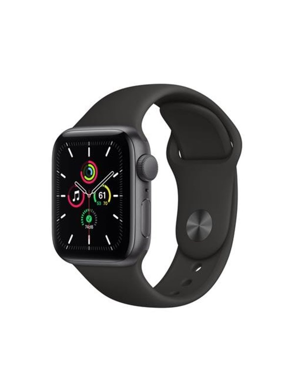 Apple Watch SE GPS 40mm Space Gray Aluminium Case with Black Sport Band (190199762794)