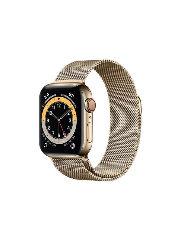 Billede af Apple Watch Series 6 GPS + Cellular 40mm Gold Stainless Steel Case with Gold Milanese Loop