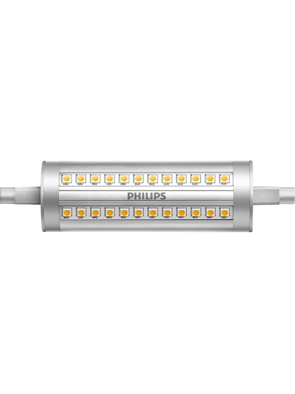 Philips LED pære Spot 14W/830 (120W) 118 mm dæmpbar R7s