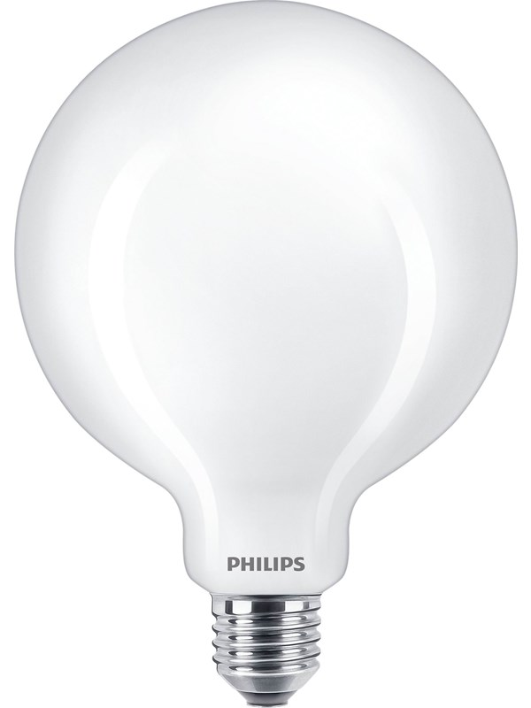 Philips LED pære Classic Globe Ø125 mm 10,5W/827 (100W) mat E27
