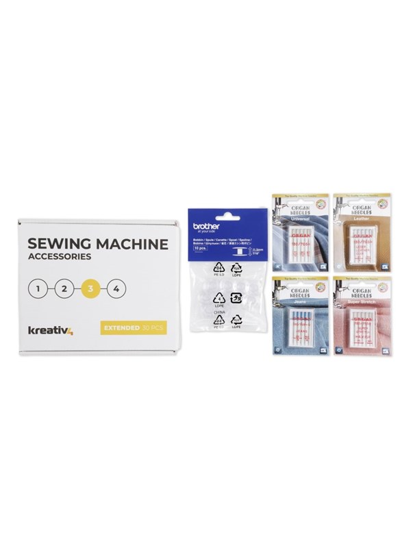 Kreativ4 Sewing Machine Accessories - EXTENDED 30 PCS