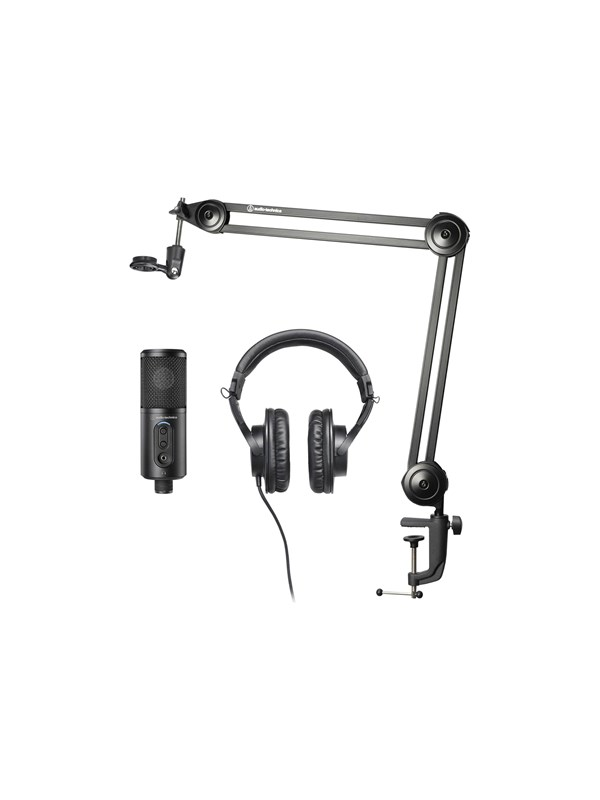 Audio-Technica Creator Pack - Streaming/Podcasting and Recording Pack - microphone - with ATH-M20x headphones