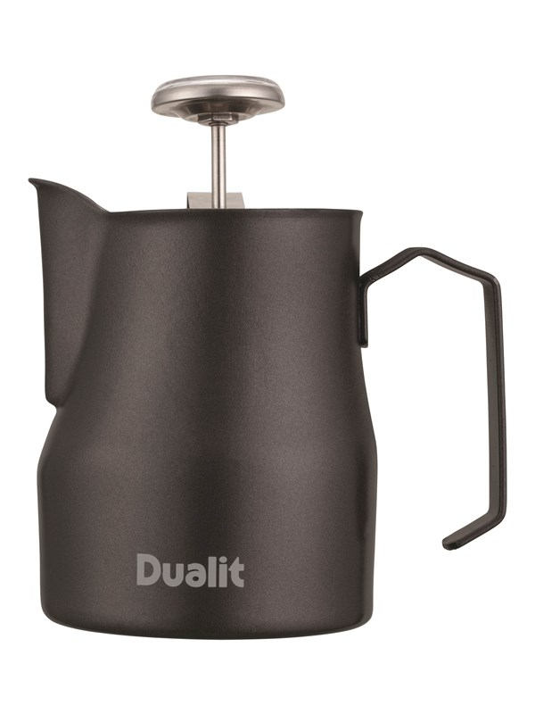 Dualit Milk Frothing Jug & Thermometer - 300 ml - Black