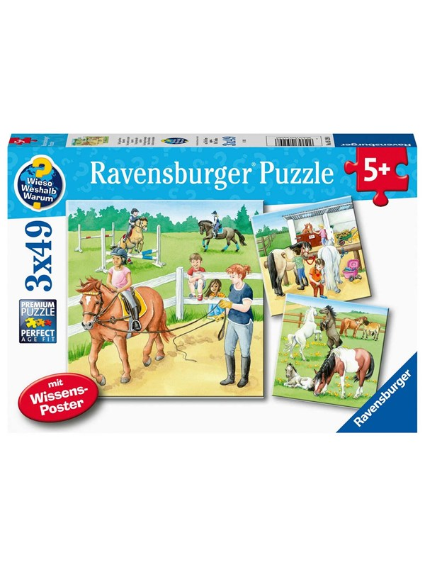 Ravensburger A day At The Stables 3x49p