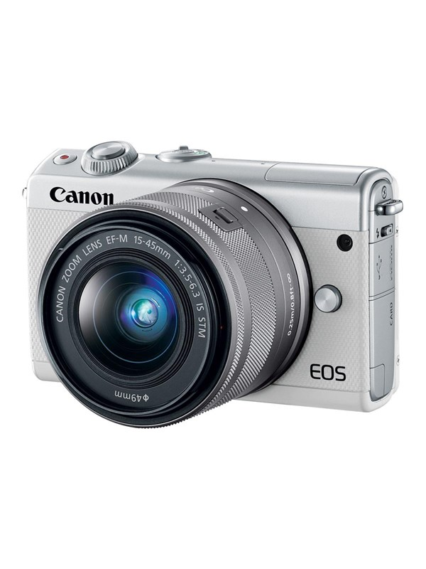 Image of   Canon EOS M100 15-45mm - White